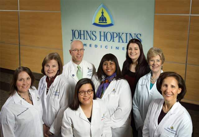 The team at the Women's Center for Pelvic Health at Johns Hopkins