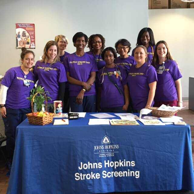 volunteers at World Stroke Day