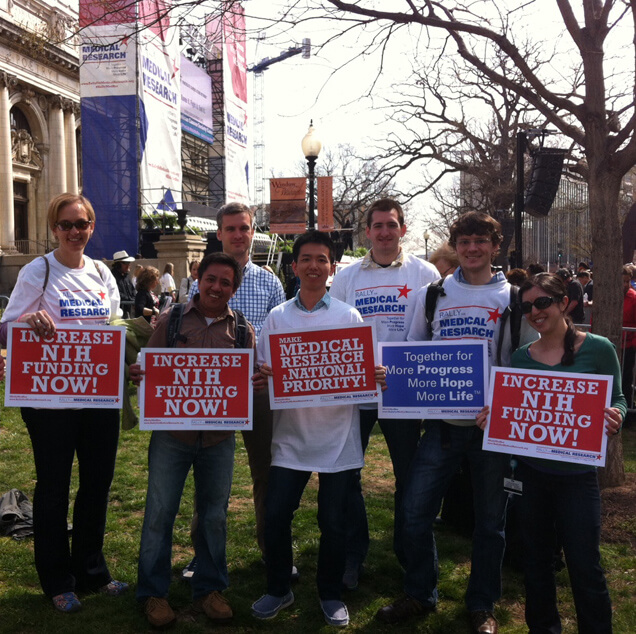 Hopkins Grad Students and Postdocs Attend Rally for Medical Research in D.C.