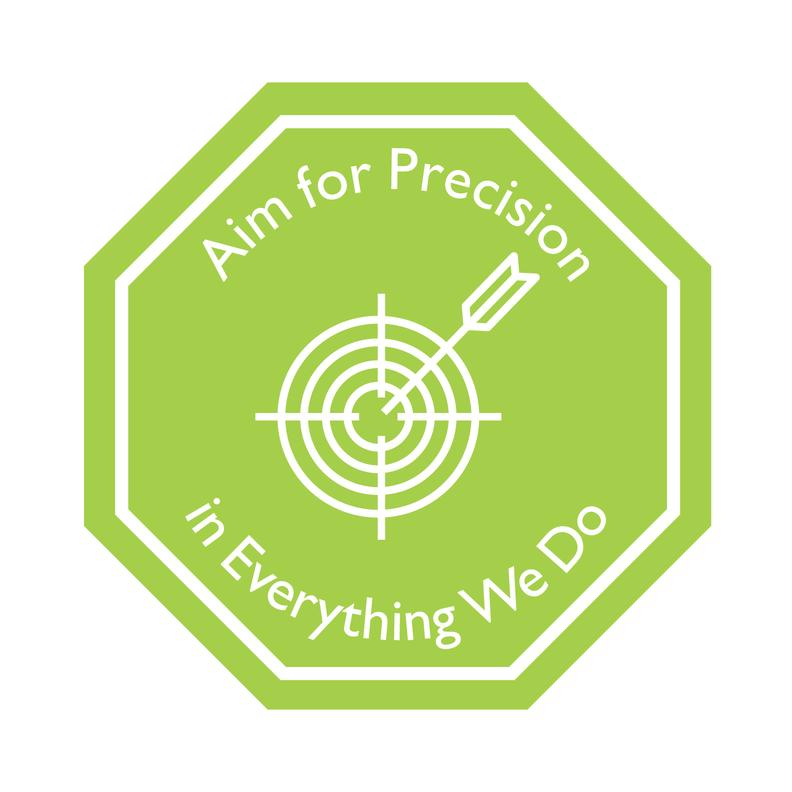 Aim for Precision in Everything We Do