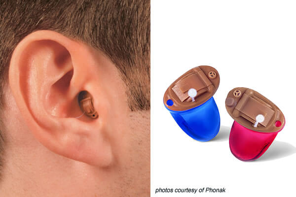 completely in the canal hearing aid