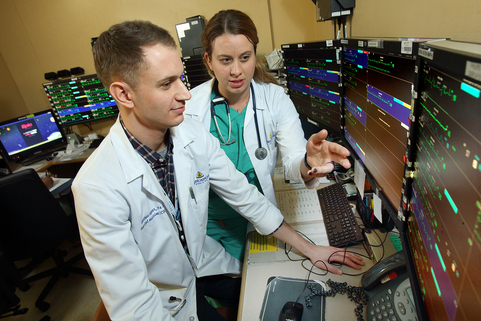 Physicians reviewing data