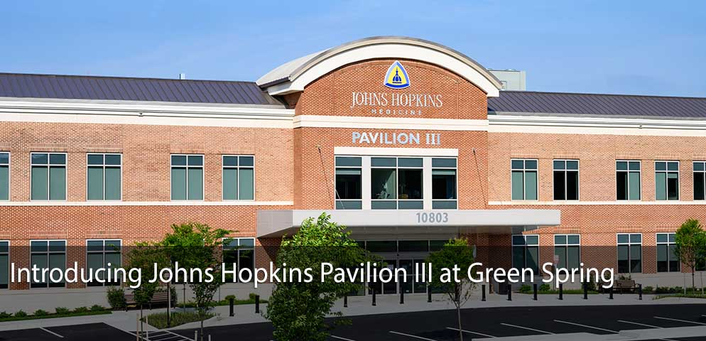 Introducing Johns Hopkins Pavilion III at Green Spring