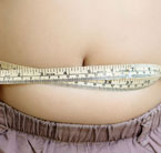 image of belly with tape measure around