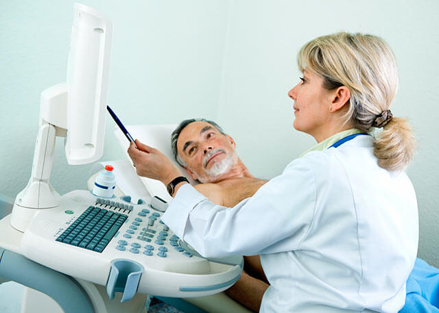 Patient receives an echocardiogram