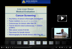 Live Liver Donation: The Medical Work Up