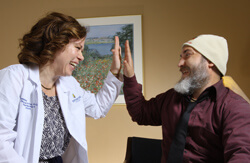 Kate Kortte helps patients like Marshall Mickelsen adapt to the illnesses that prevent them from living full lives. One of her proven tenets: Hope aids recovery.