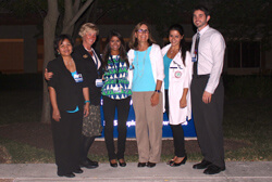 From left to right, Rhea Baccay, Stacey Schaab,  Shruti Mittra,  Sheree Riley,  Serpouhi Toriguian and Edward Horvath are members of the Johns Hopkins sleep squad.