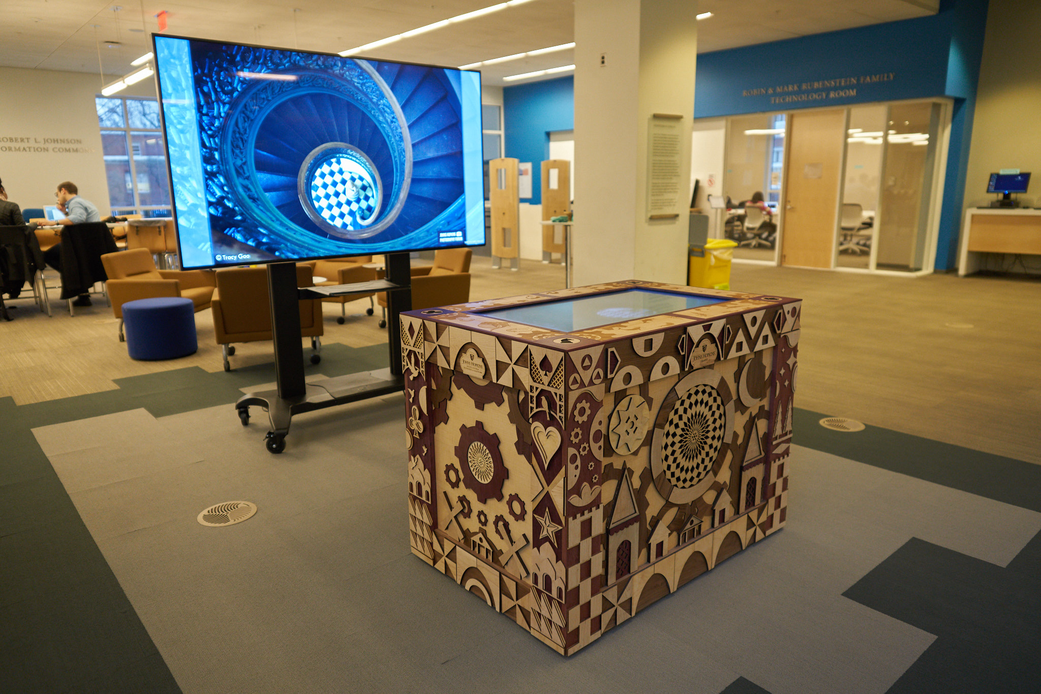 JHU library interactive table