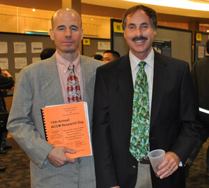 Dr. Young and Dr. Mirski at ACCM Research Day 2011