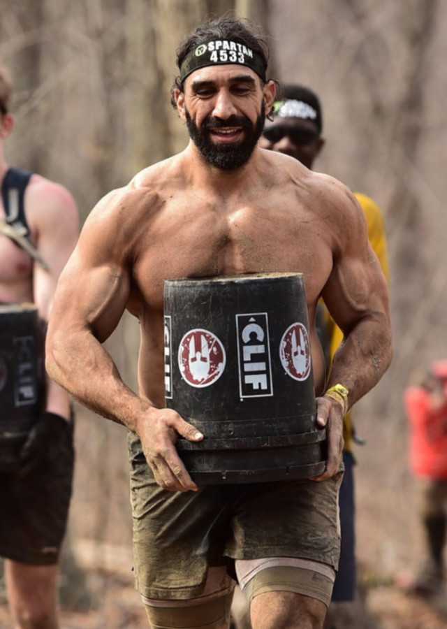 Ahmad participates in a spartan competition