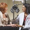 Patient Sally Alkire and Wilmer Eye Institute Surgeon Shameema Sikder, MD, discuss outpatient surgical treatment options.