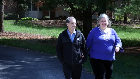 Orlando DeFelice and his wife, Pam, enjoy a springtime stroll as they look forward to celebrating the 30th anniversary of his heart transplant.