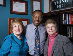 Carol James, Ben Carson and Patti Vining, whose careers have spanned decades at Johns Hopkins, are all retiring over the next several months.