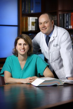 Anne Lidor and John Clarke team regularly to relieve hiatal hernias.