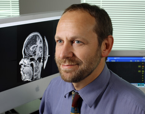 Pablo Celnik uses transcranial magnetic stimulation to help induce electrical activity in focal brain areas.