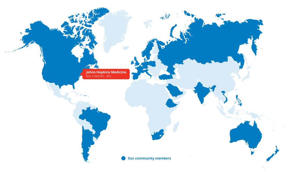 map of countries and capitals across the world from which arvc patients travel