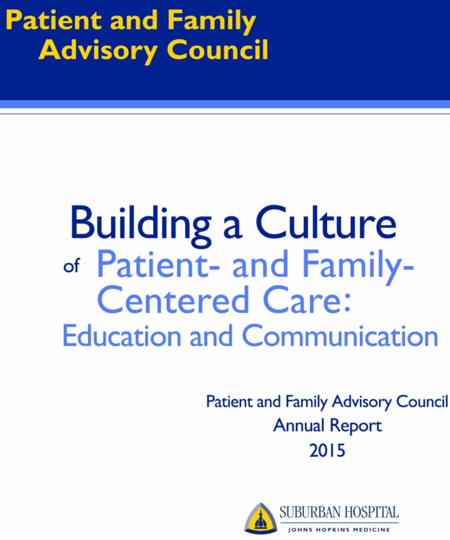 Front cover of the 2015 PFAC Annual Report
