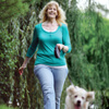 Allison Palmer walking with her dog