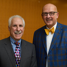 Dean Paul Rothman and President Kevin Sowers