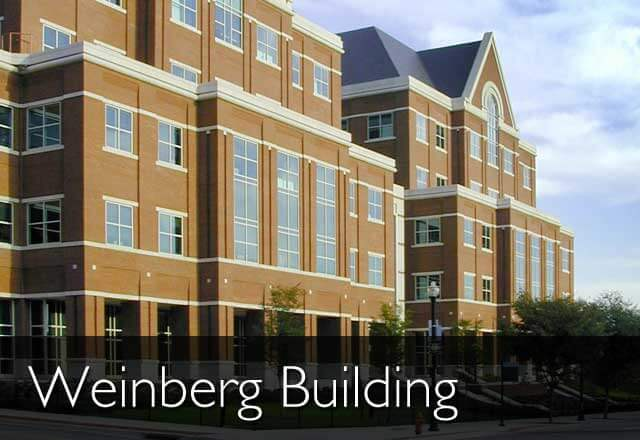 An image of the Weinberg Building