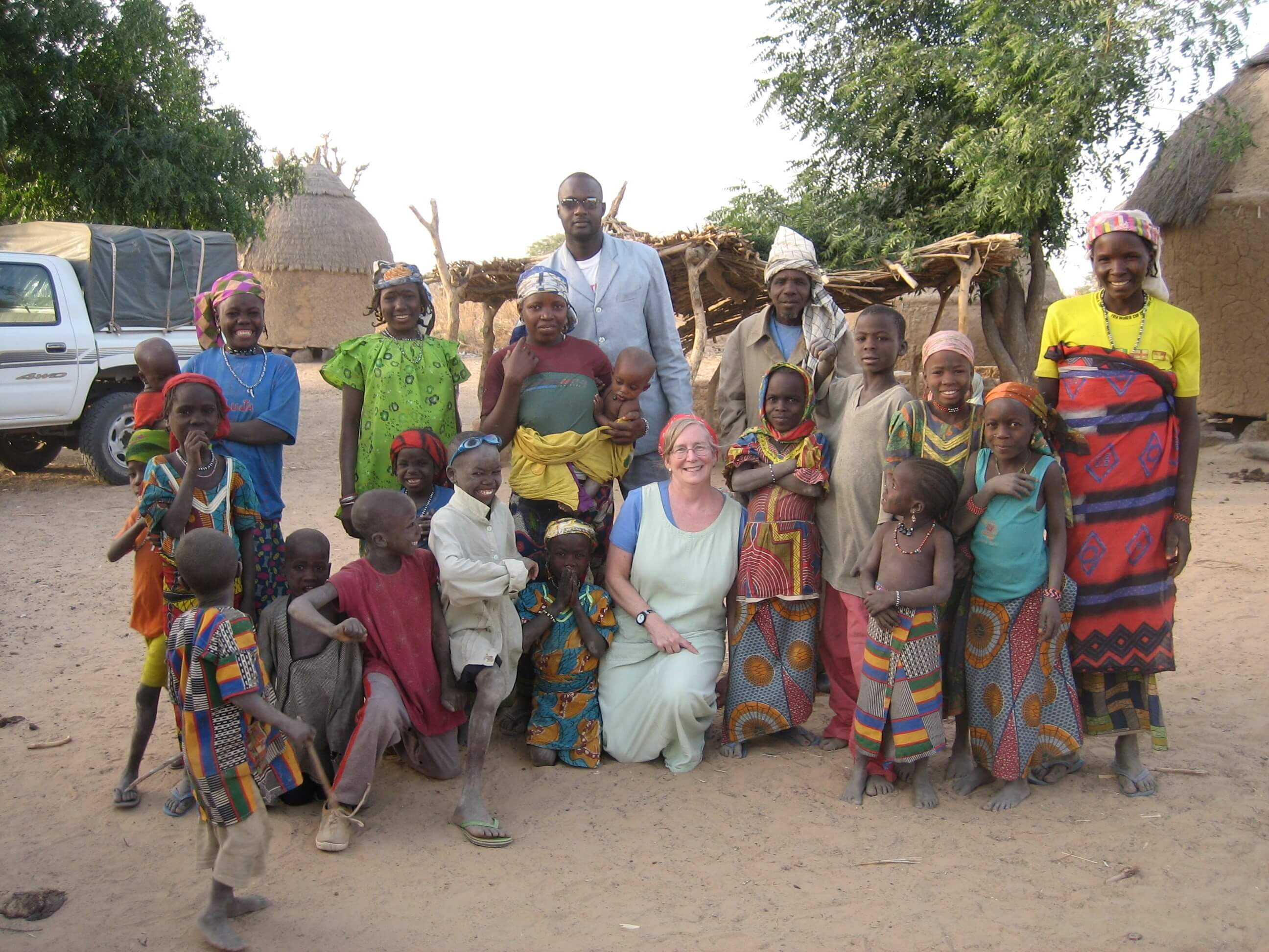 Sheila West visits with patients in africa