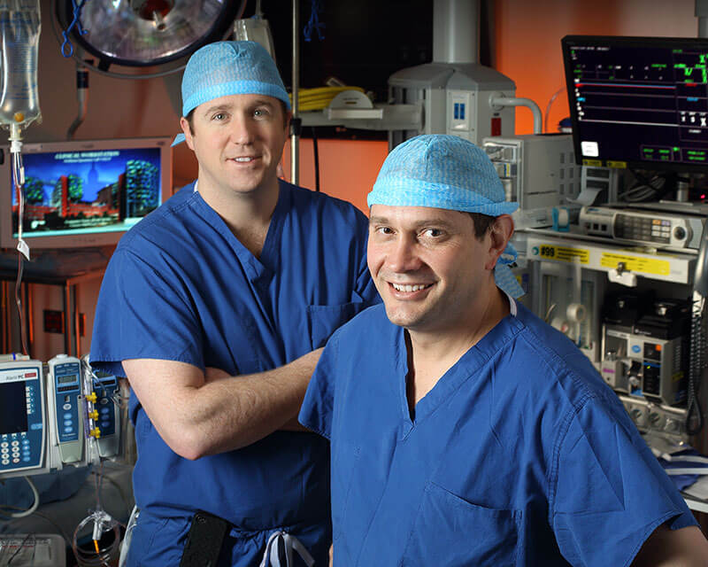Dr. Weiss and Dr. Wolfgang in the operating room