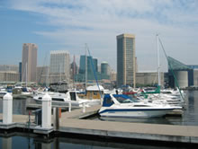Baltimore harbor marina