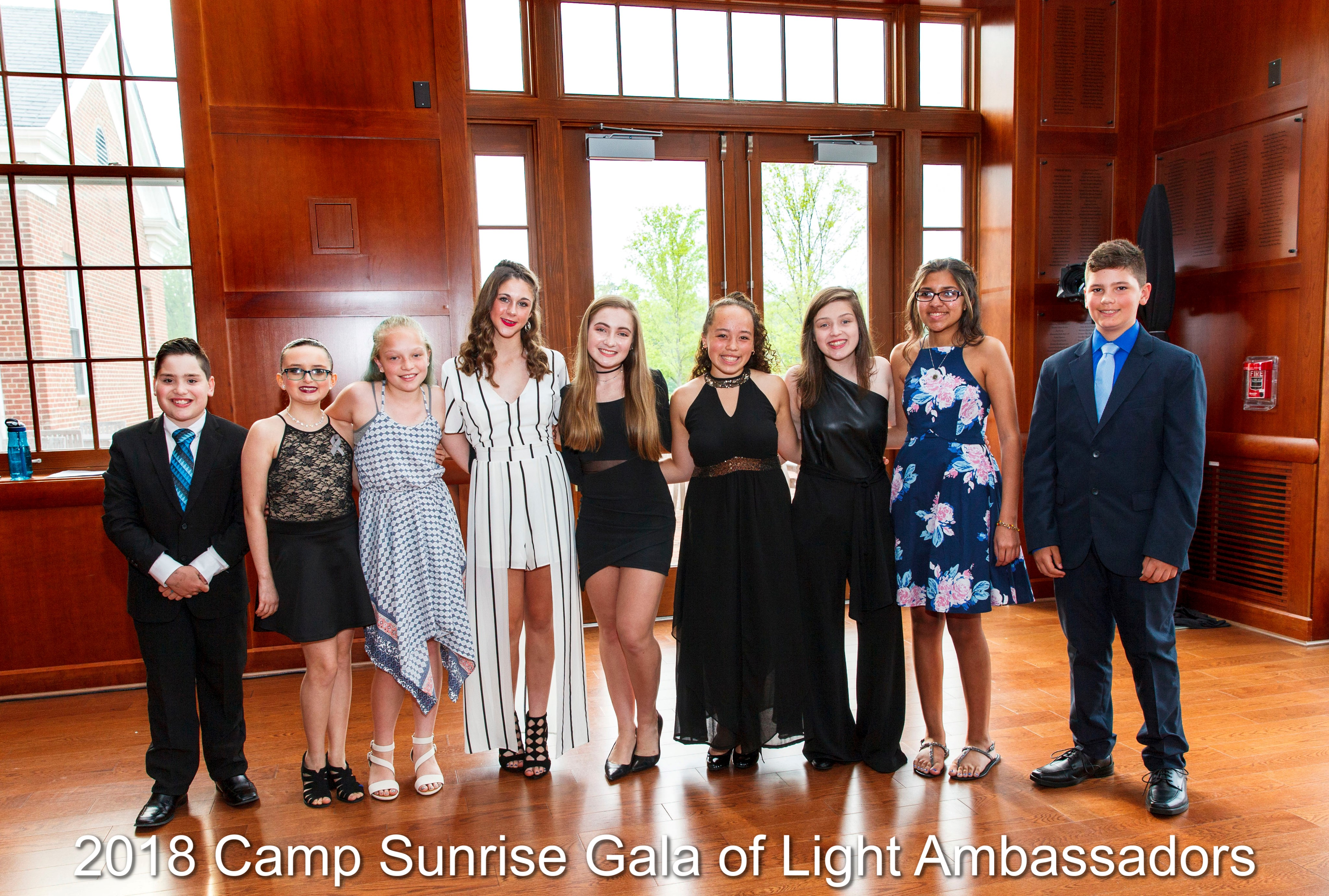 2018 Camp Sunrise Gala of Light Ambassadors