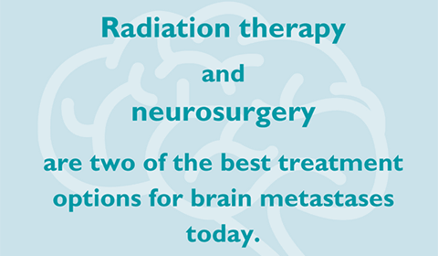 Radiation therapy and neurosurgery are two of the best treatment options for brain metastases today.