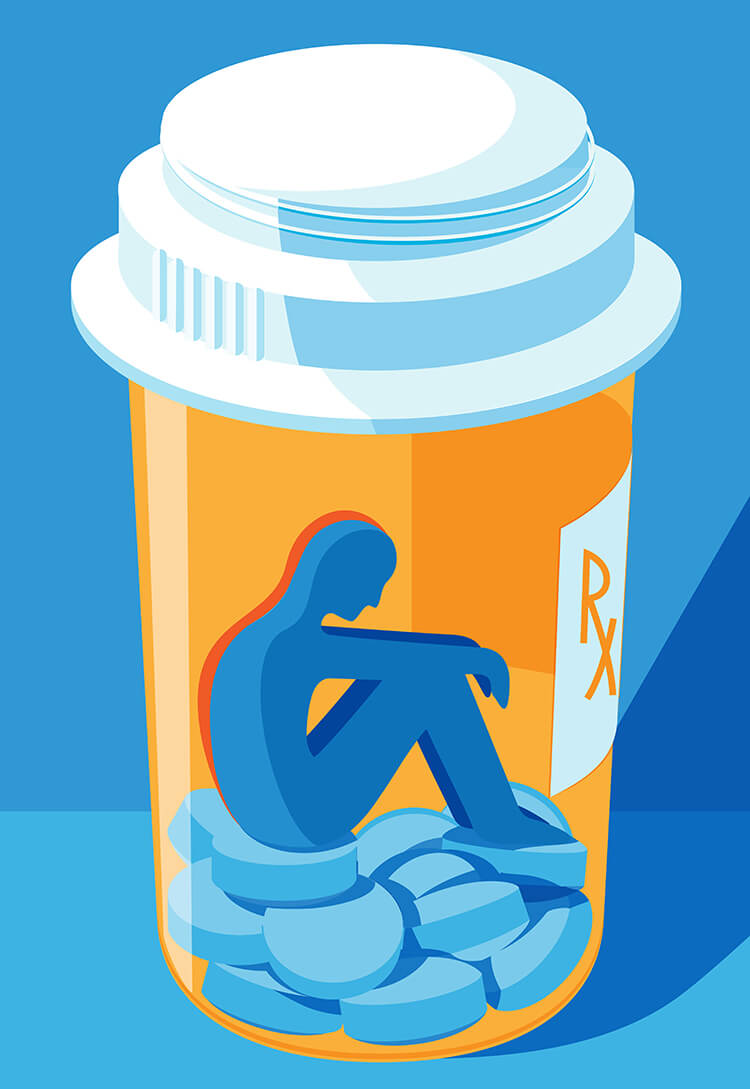 Pill bottle graphic