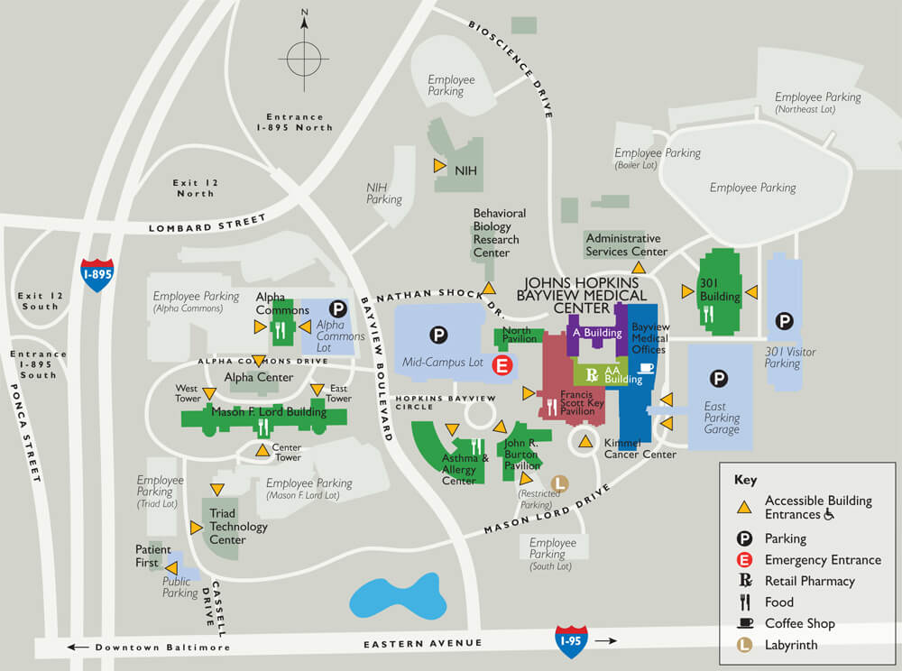 Johns Hopkins Bayview Campus Map