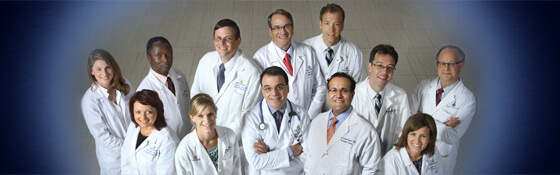 group photo of the Pituitary Center doctors