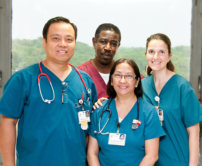 A group of Sibley nurses stand together.