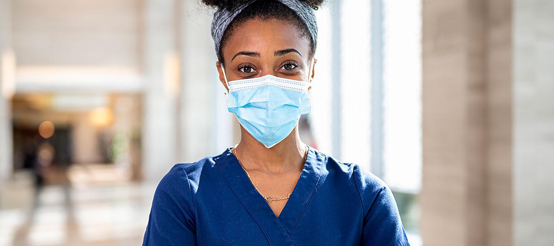 nurse with a mask