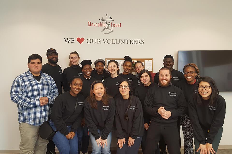 The Biomedical Scholars Association volunteering at a local nonprofit.