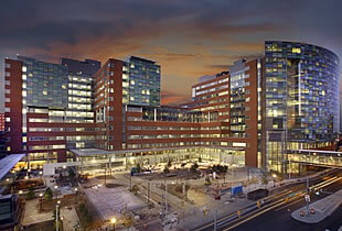 a view of the new hospital buildings