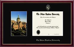 Diploma frame with Dome picture