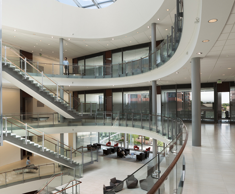 The interior of the Armstrong Education Building.