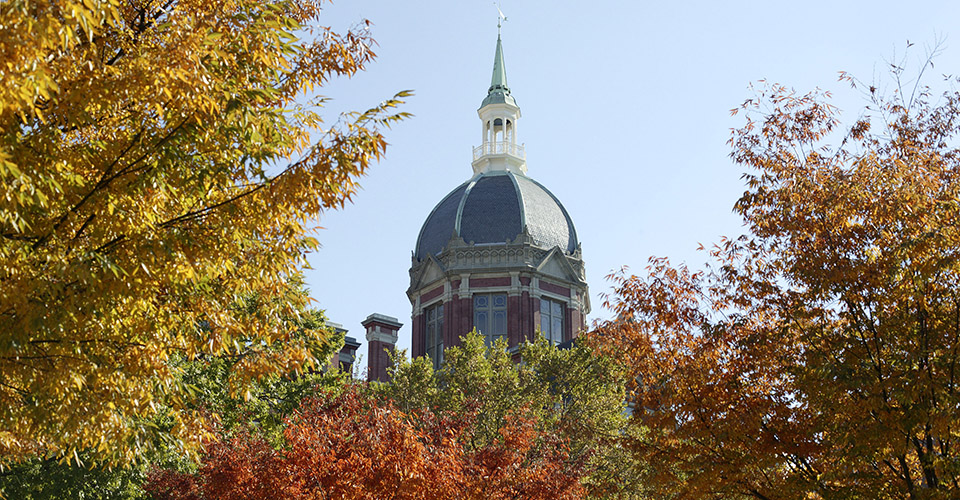 the dome in the fall