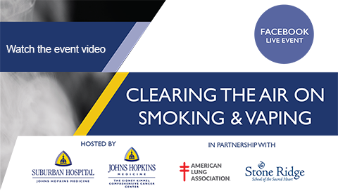 Facebook live event on vaping