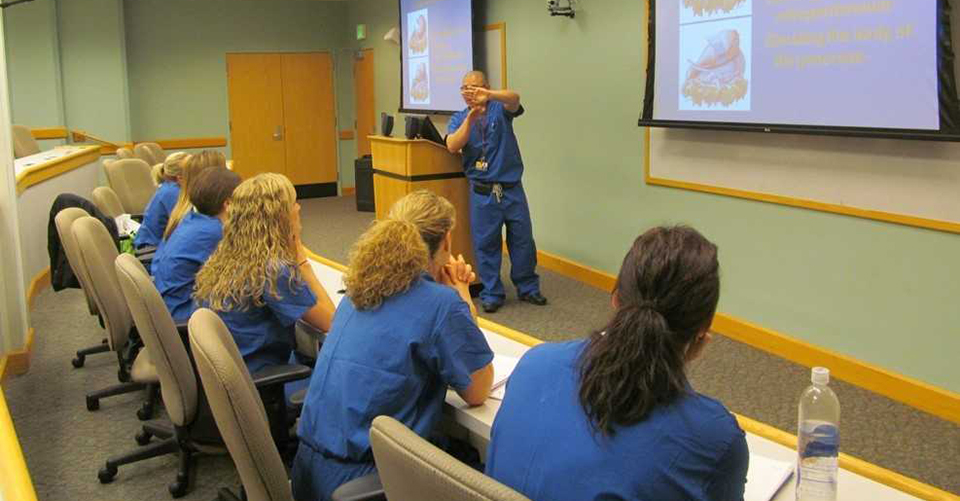 PA Surgical Residency Students watching a presentation