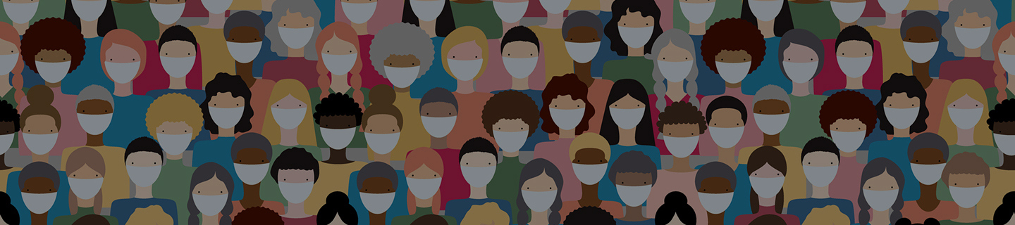 global surgery - illustration of diverse group of people masked