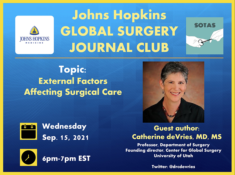global surgery initiative - flier for upcoming event