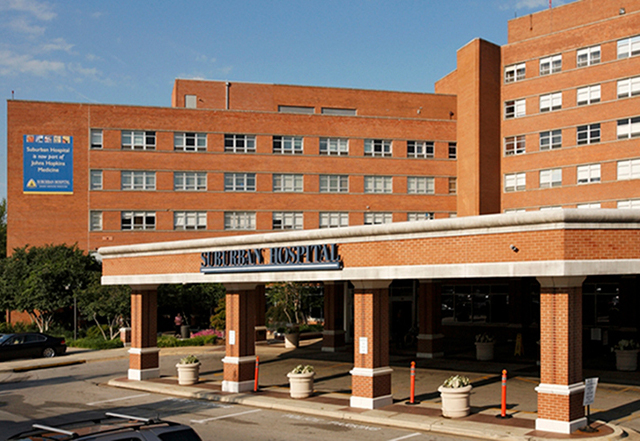 Suburban Hospital building - breast surgical oncology