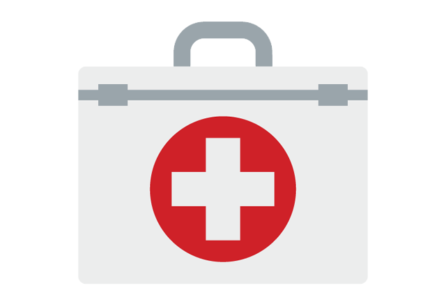 thoracic surgery - medical kit graphic icon