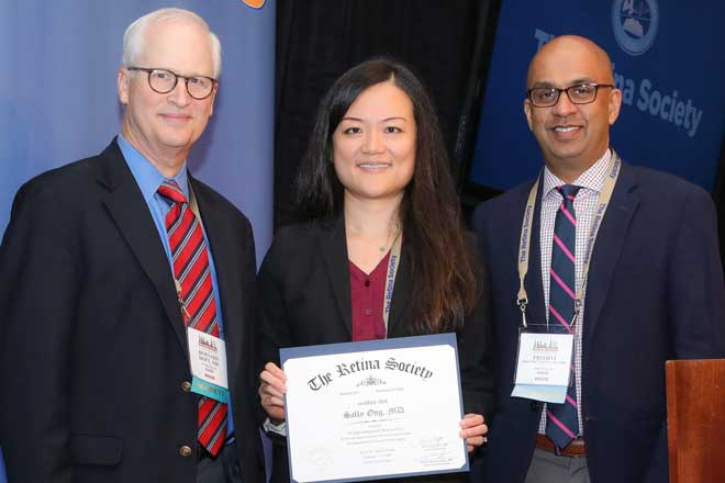 Dr. Sally Ong at Retina Society meeting