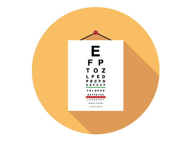 icon of eye exam chart