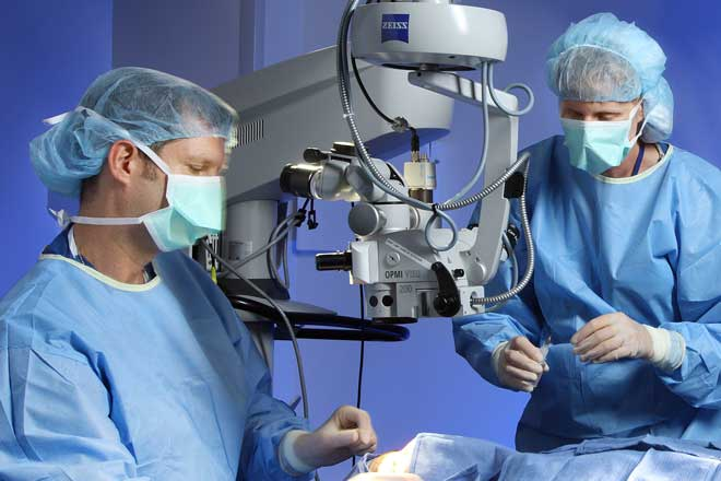 Doctors at Wilmer Eye perform a surgery