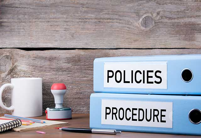 folders marked as policies